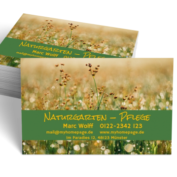 Gärtner-Visitenkarte Element