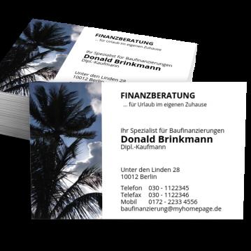 Immobilien-Makler-Visitenkarte Home Finance
