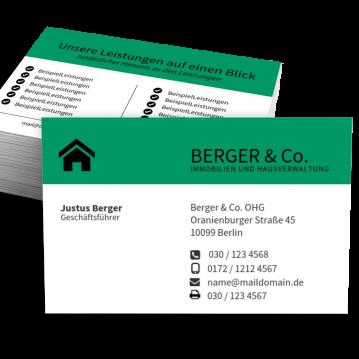Immobilien-Makler-Visitenkarte Corporate