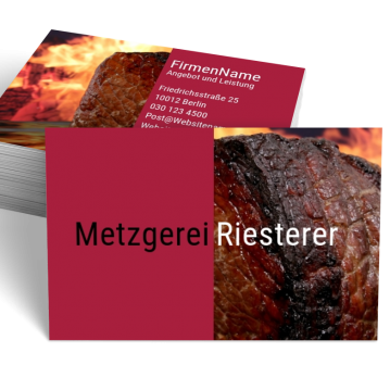 Metzger-Visitenkarte Split