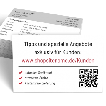 Wohnen-Visitenkarte Shop Here