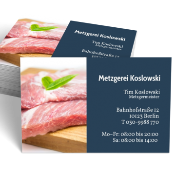 Metzger-Visitenkarte Picture