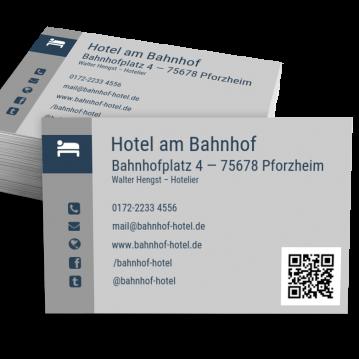 Hotel Visitenkarte Modern