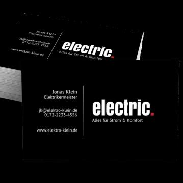 Elektriker-Visitenkarte Dot