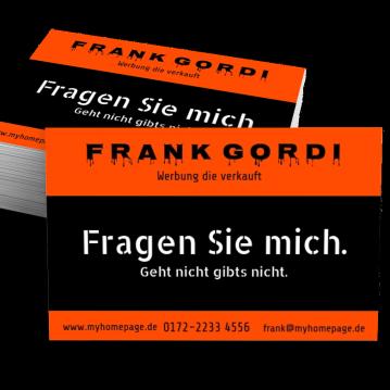 Werbung & Design-Visitenkarte Promise