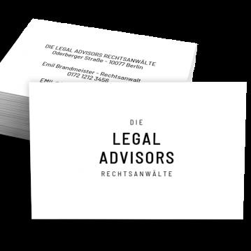 Rechtsanwalt-Visitenkarte Experts