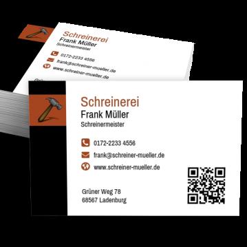 Schreiner-Visitenkarte Modern