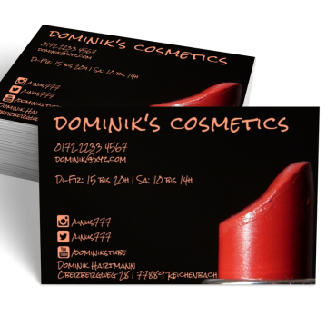 Kosmetik-Visitenkarte Social Me