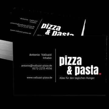 Pizza-Service-Visitenkarte Dot