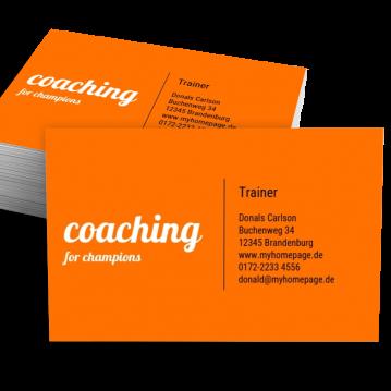 Ausbildung & Training-Visitenkarte Impulsiv