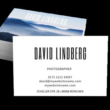 Werbung & Design-Visitenkarte Typo