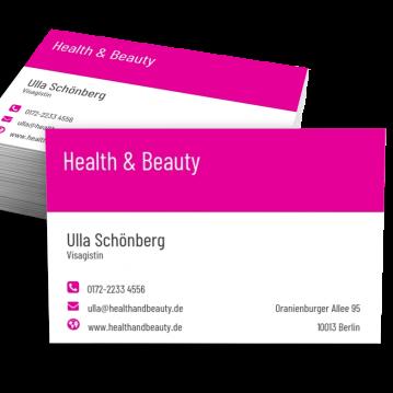 Kosmetik-Visitenkarte Modern