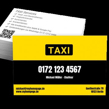 Taxi-Visitenkarte TAXI