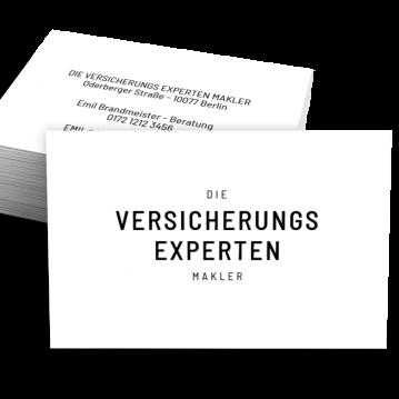 Versicherung-Visitenkarte Experts