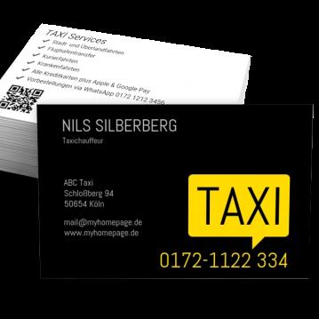 Taxi-Visitenkarte Bubble