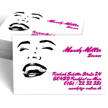 Übersicht Designs-Visitenkarte Smile