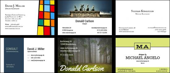 Visitenkarten vorlagen kostenlos nutzen und direkt - Visitenkarten drucken gratis ...