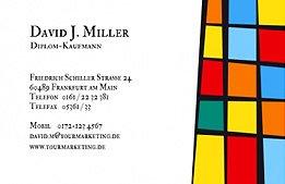 Visitenkarte mit Kunst-Motiv