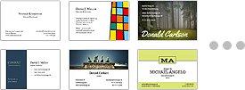 Visitenkarten aus Profi-Designs auswählen