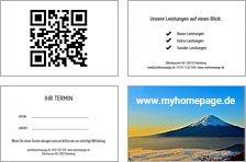 Rückseiten-Vorlagen für Visitenkarten